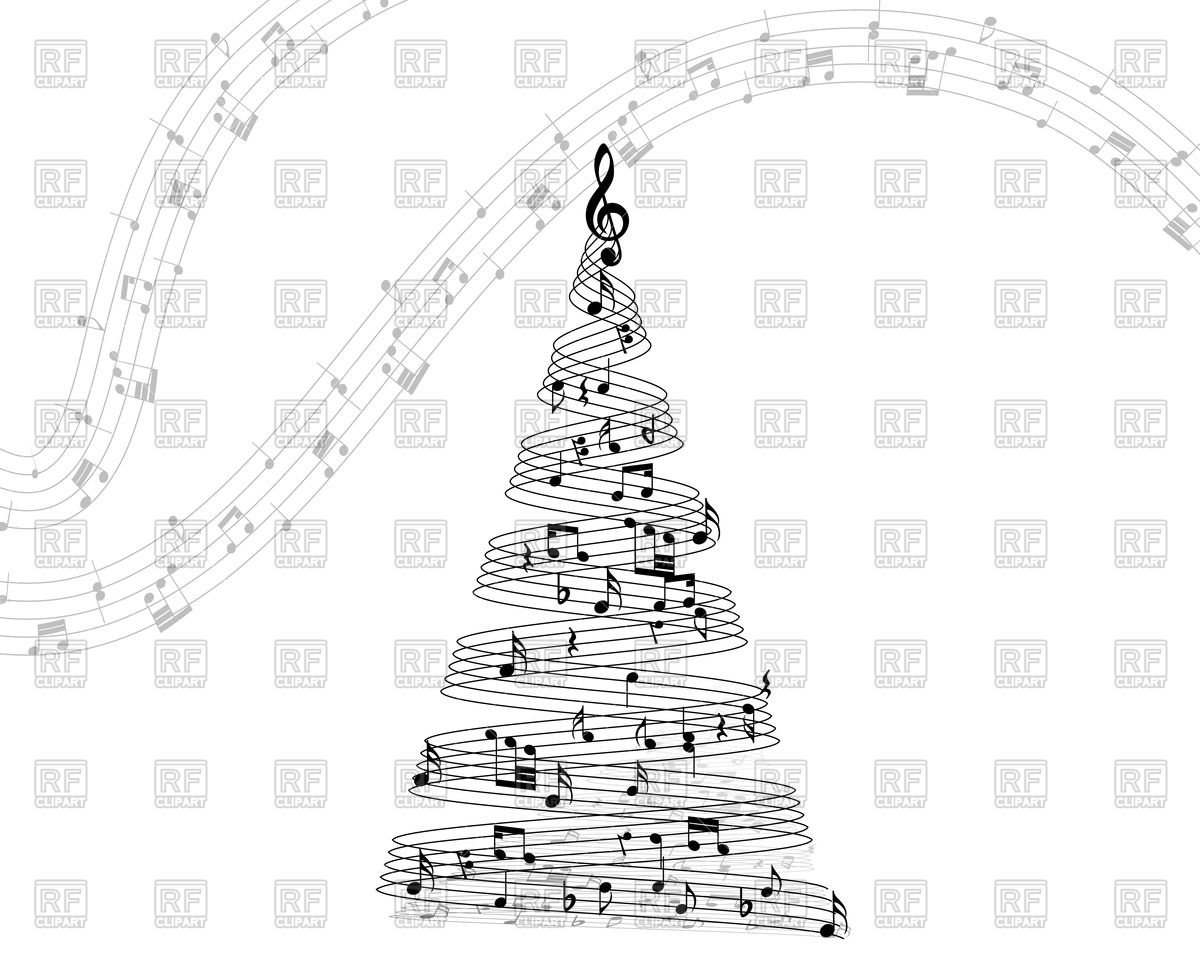 Christmas Music Note Clipart