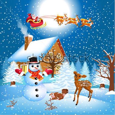 Christmas Scene Clipart Clipground