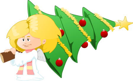 christmas tree clipart angel clipground clipart