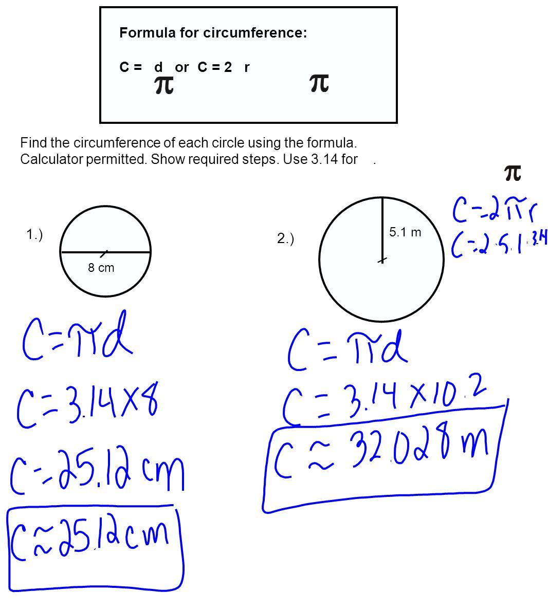 Circumference Of A Circle Formula 20 Free Cliparts