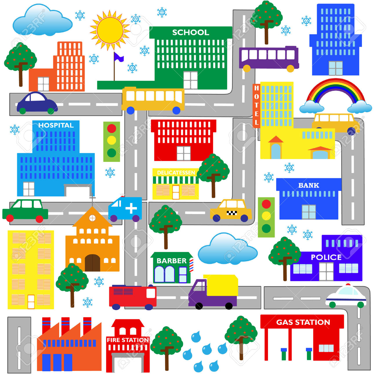 Map Of Town Clipart 20 Free Cliparts