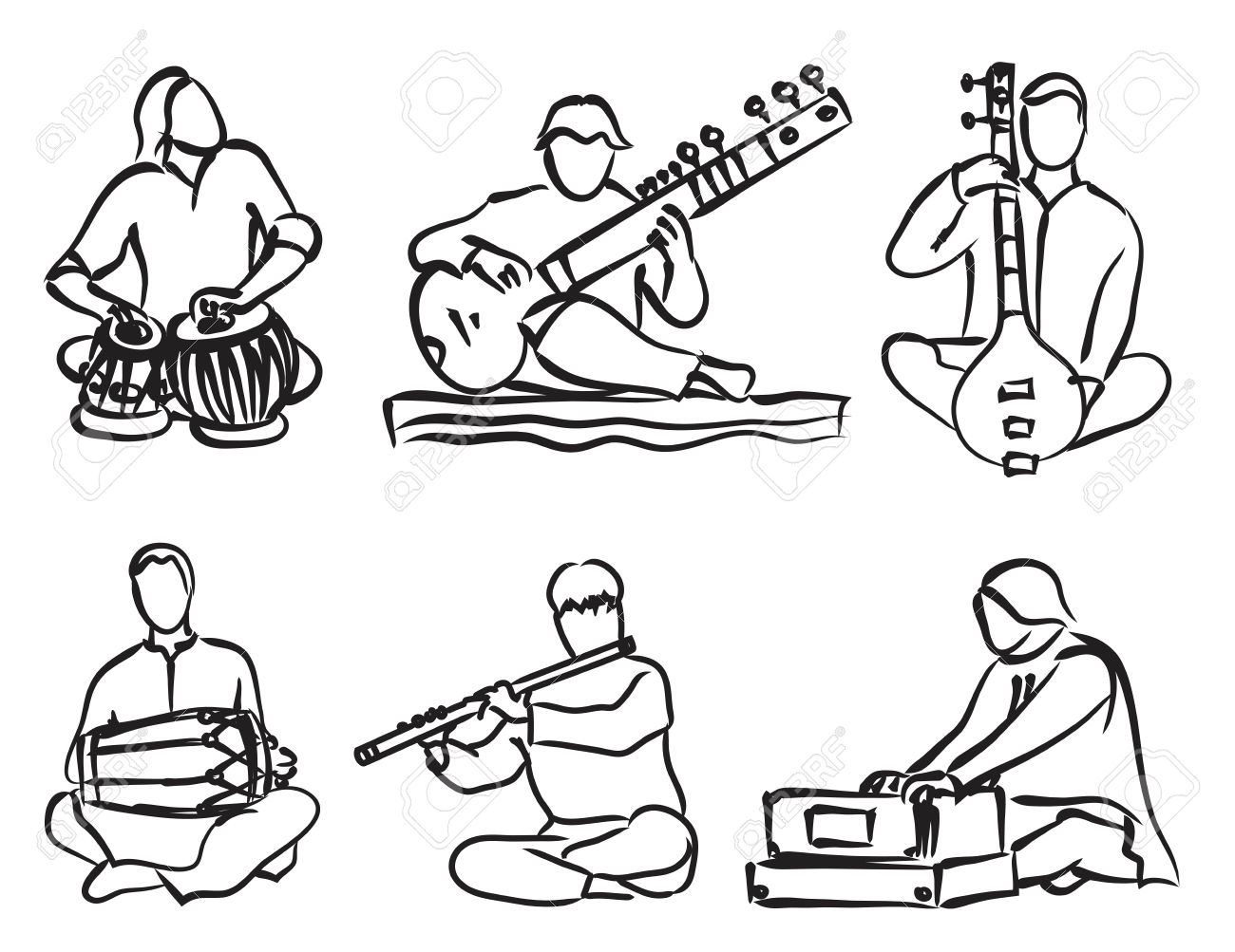 Indian Music Clipart