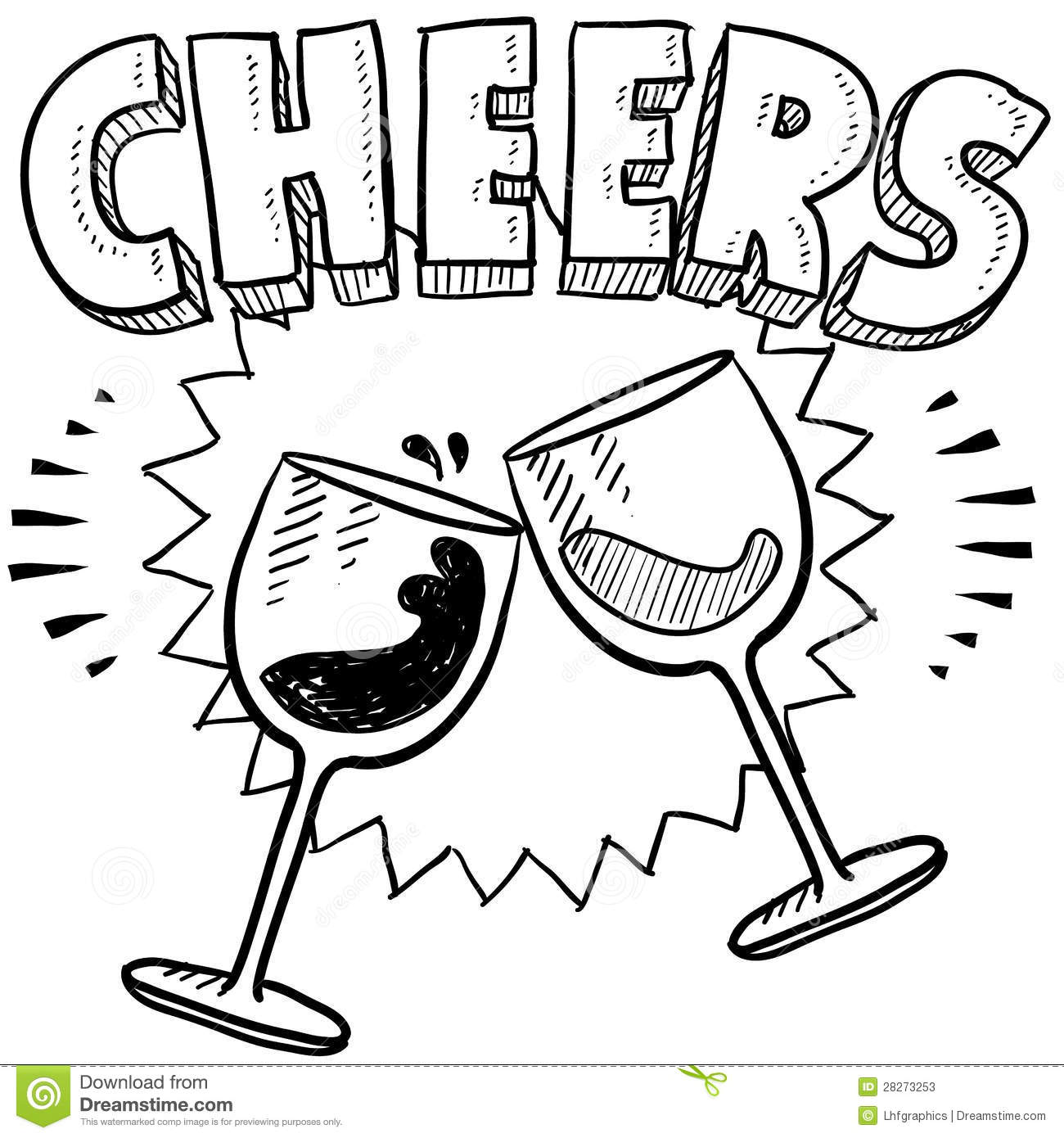 Clink Glasses Clipart