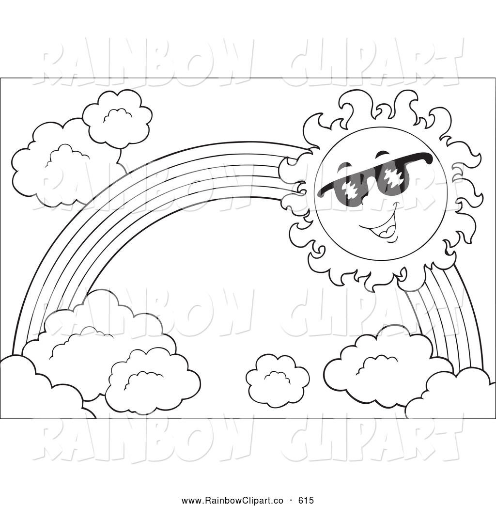 Clip Art Black And White Rainbow 20 Free Cliparts