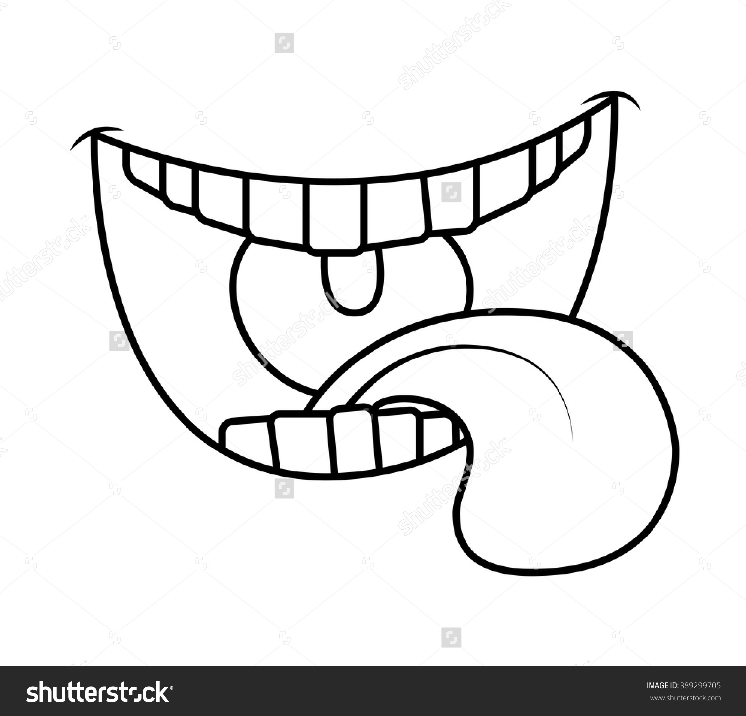 Clipart Black And White Tongue 20 Free Cliparts