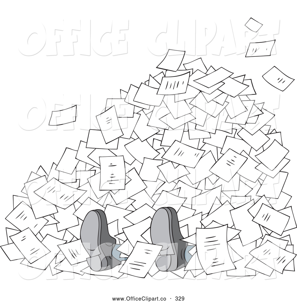 Clipart Buried In Paperwork 20 Free Cliparts