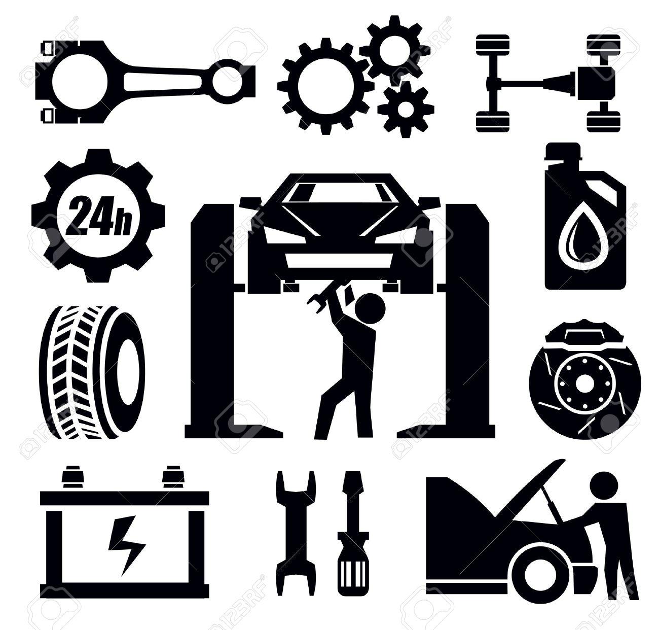 Car Mechanics Clipart