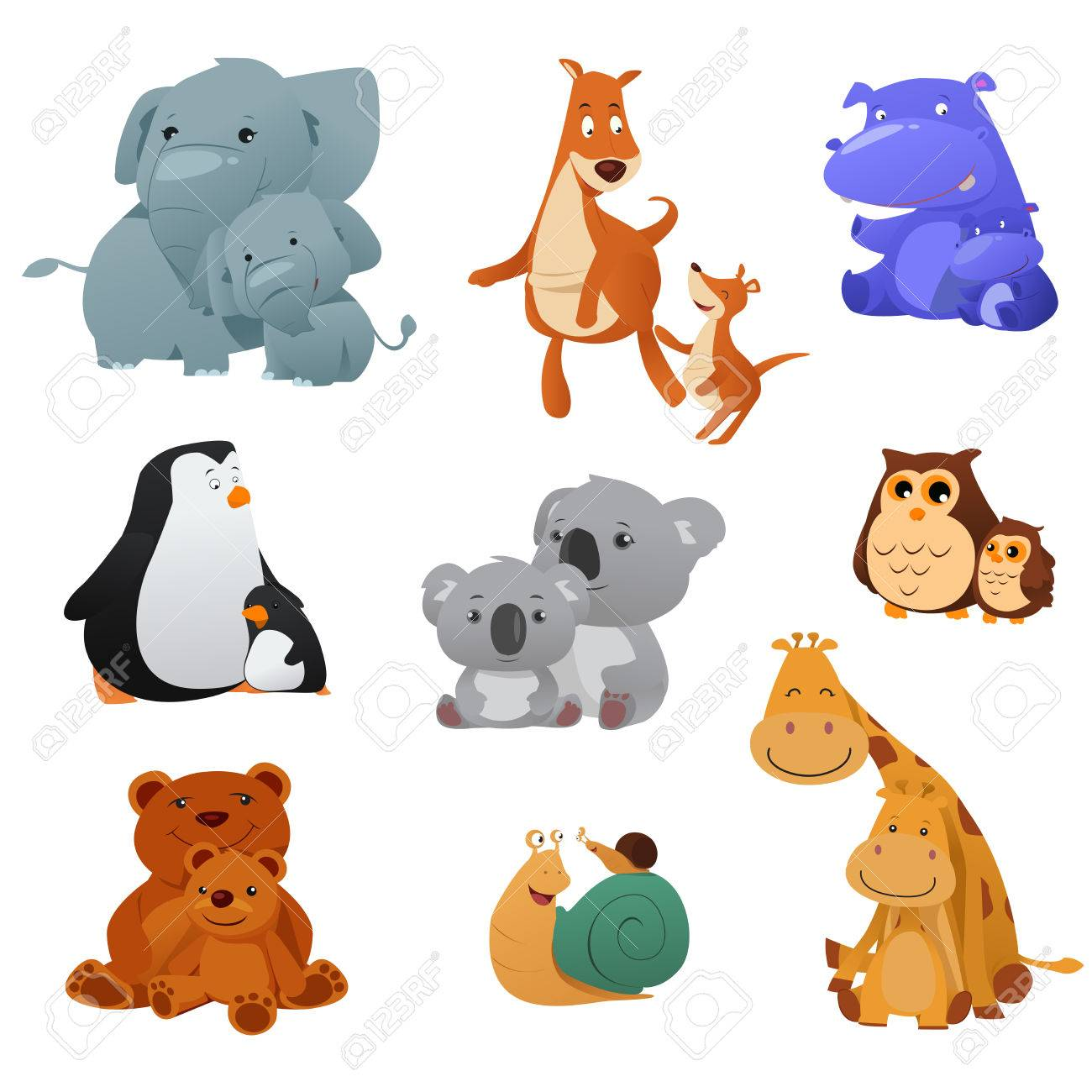 Clipart Images Of Animals And Their Young Ones 20 Free