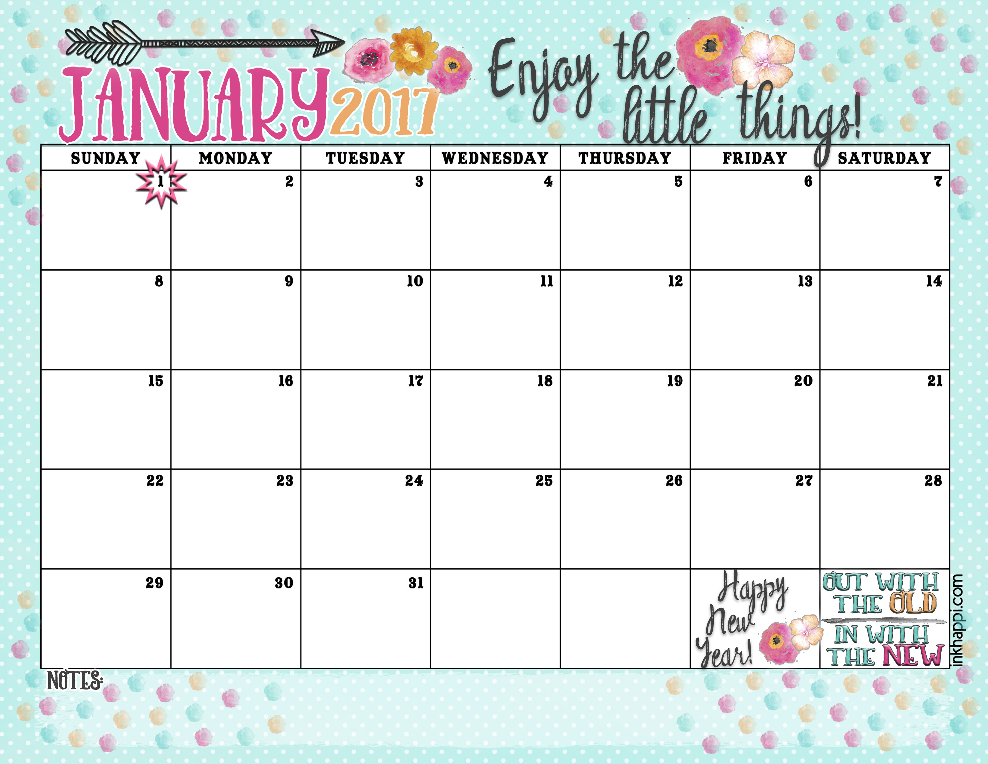 Clipart January Calendars