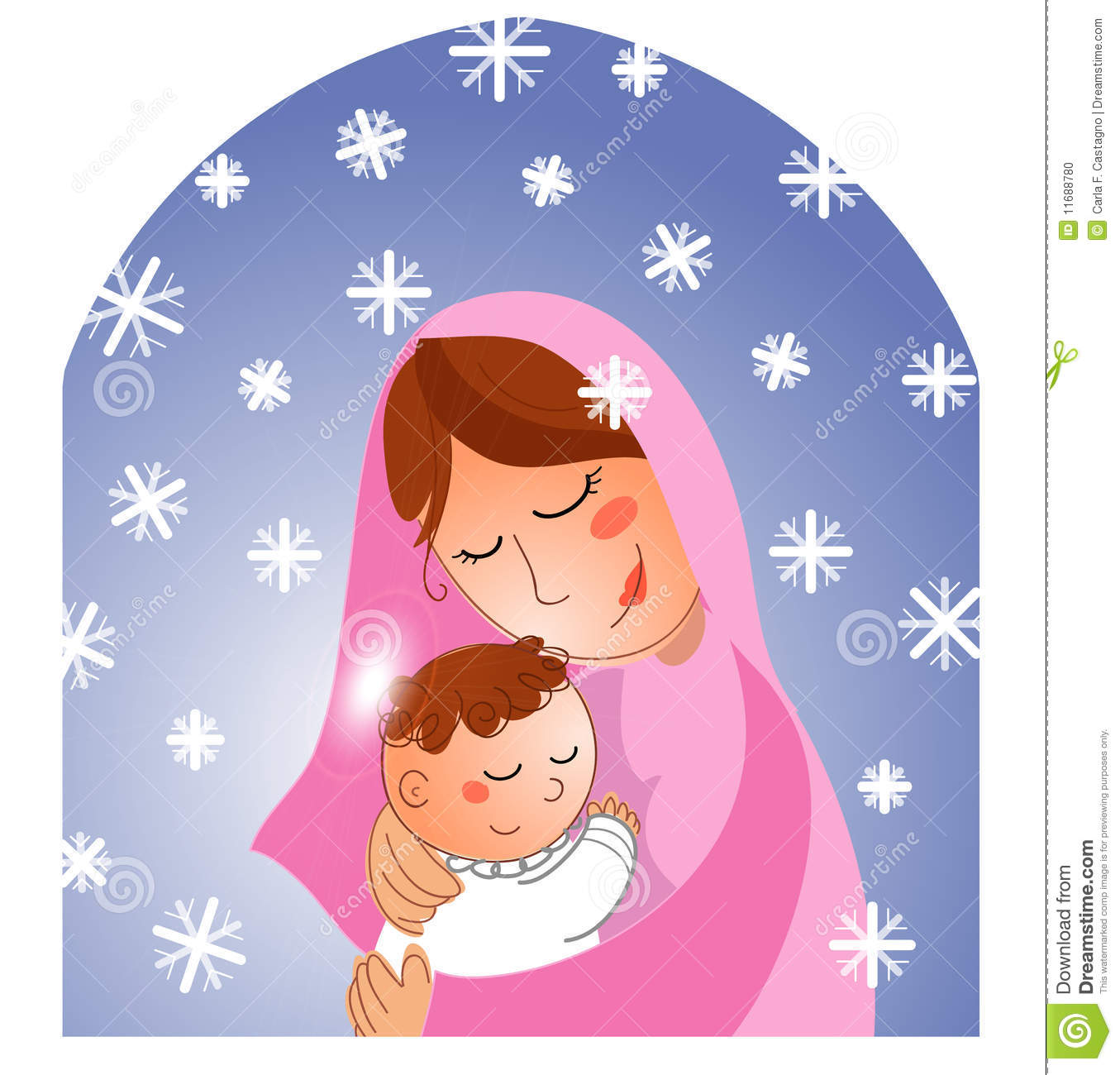 Clipart Mary And Baby Jesus Clipground