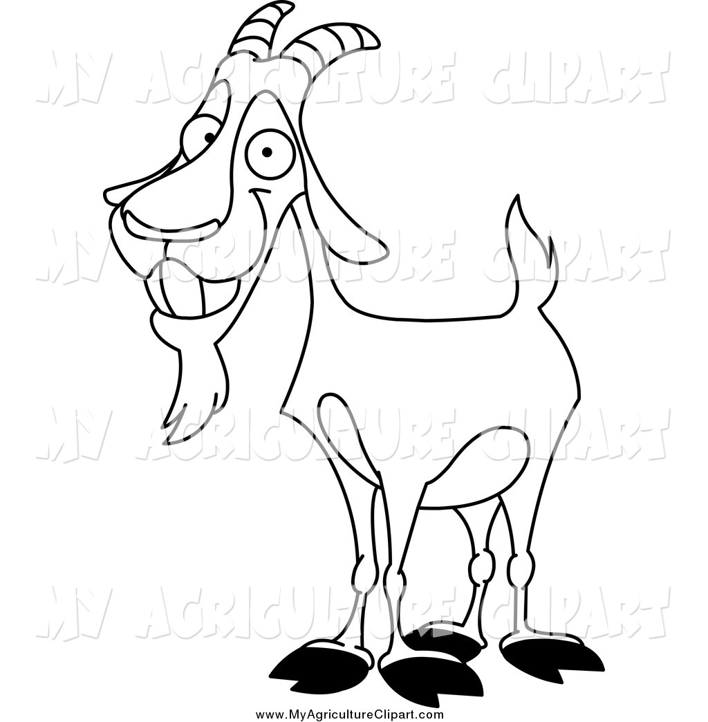 Clipart Of Goat Black And White 20 Free Cliparts