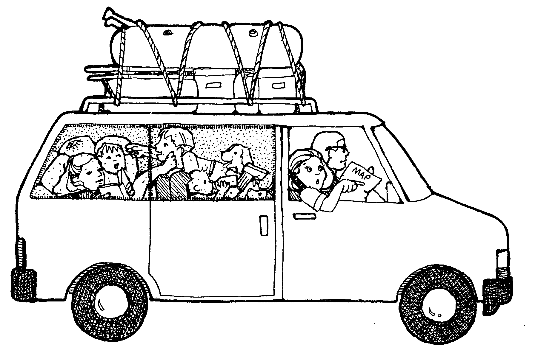 Clipart People Getting Into A Van