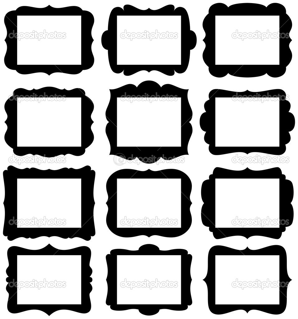 Clipart Silhouette Frame Collection Clipground