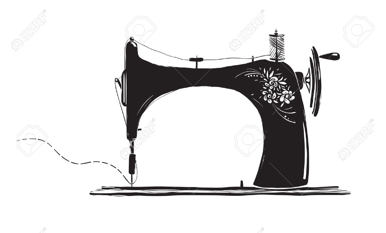 Clipart Silhouette Vintage Sewing Machine