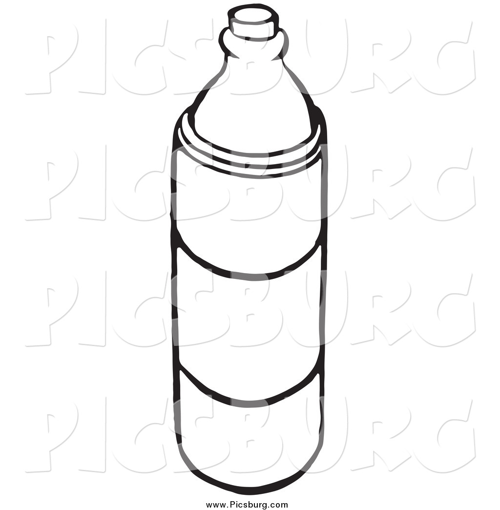 Clipart Water Bottle Black And White