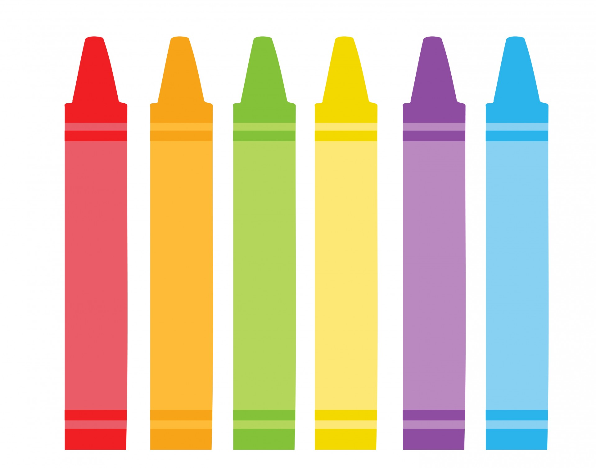 Different Colored Crayons Clipart