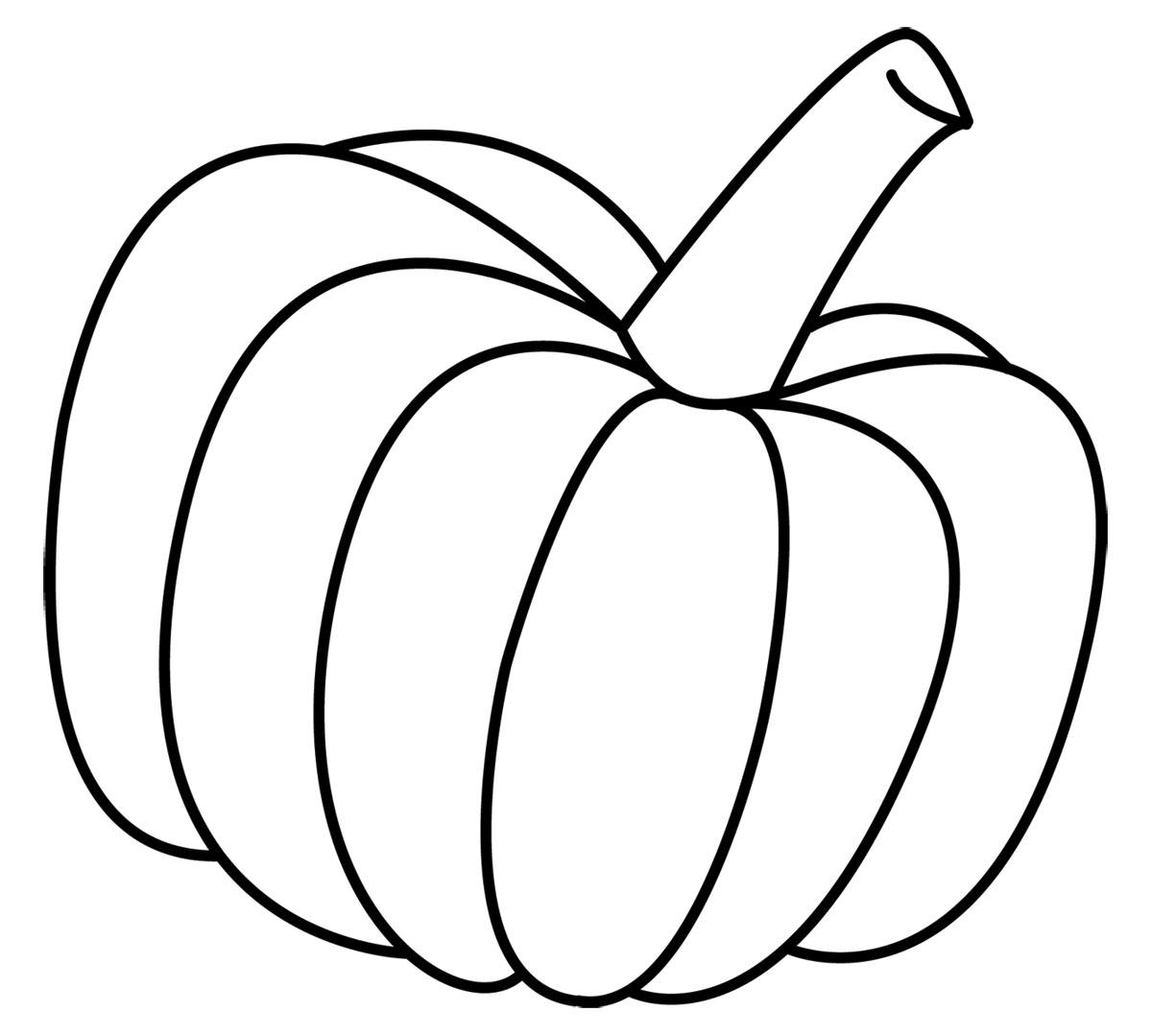 Colored Pumpkin Clipart
