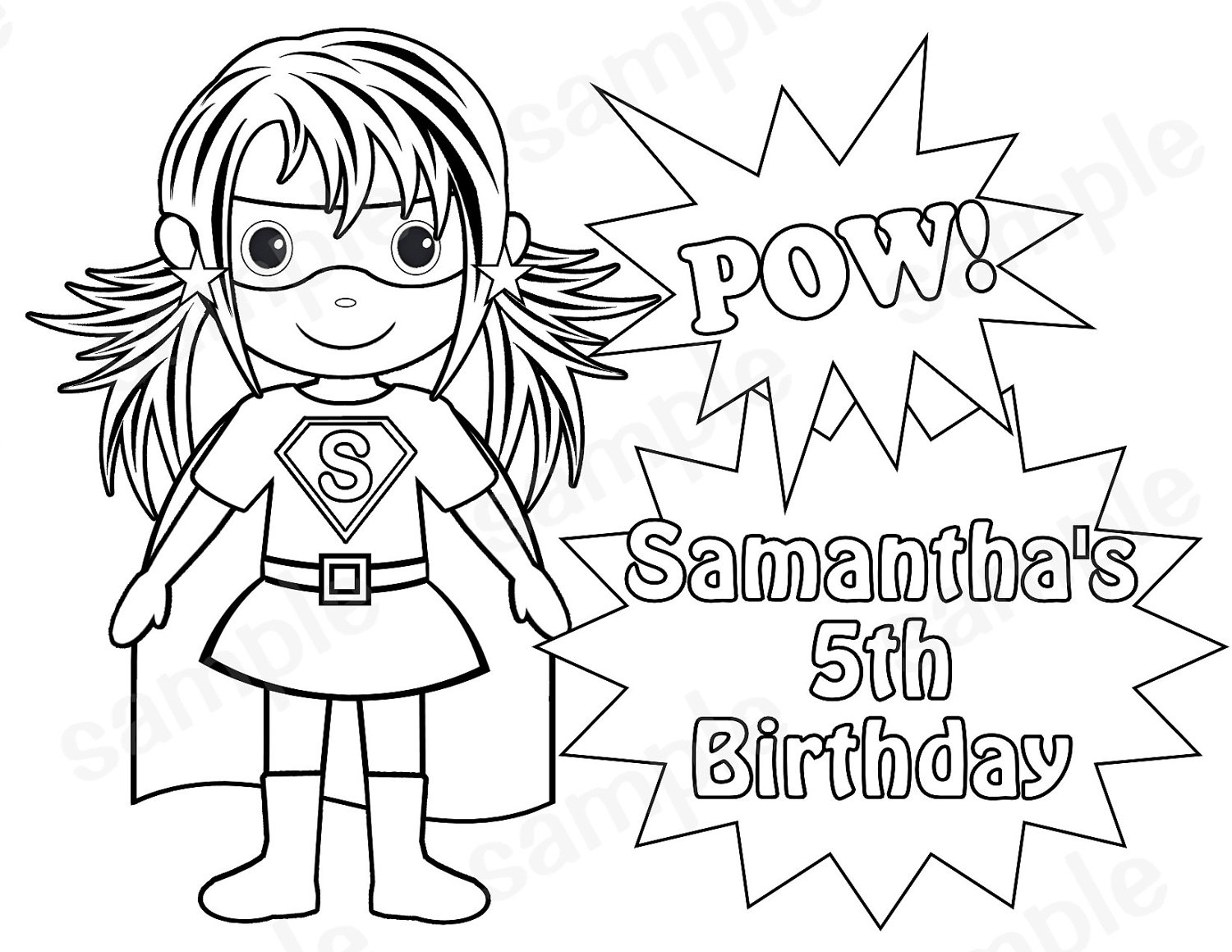 Coloring Clipart For Girl Superheros