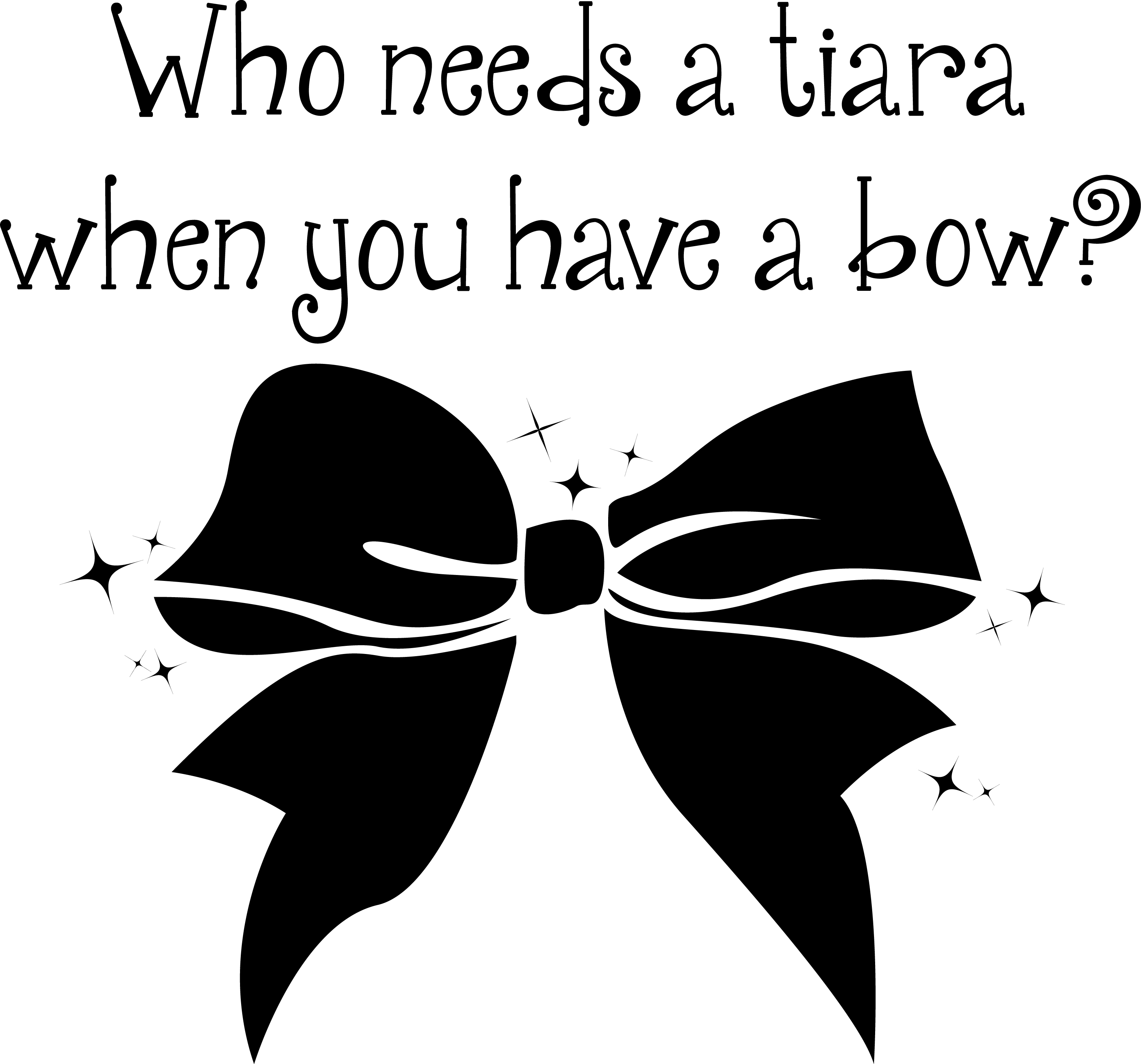 Cute Bow Clipart Black And White