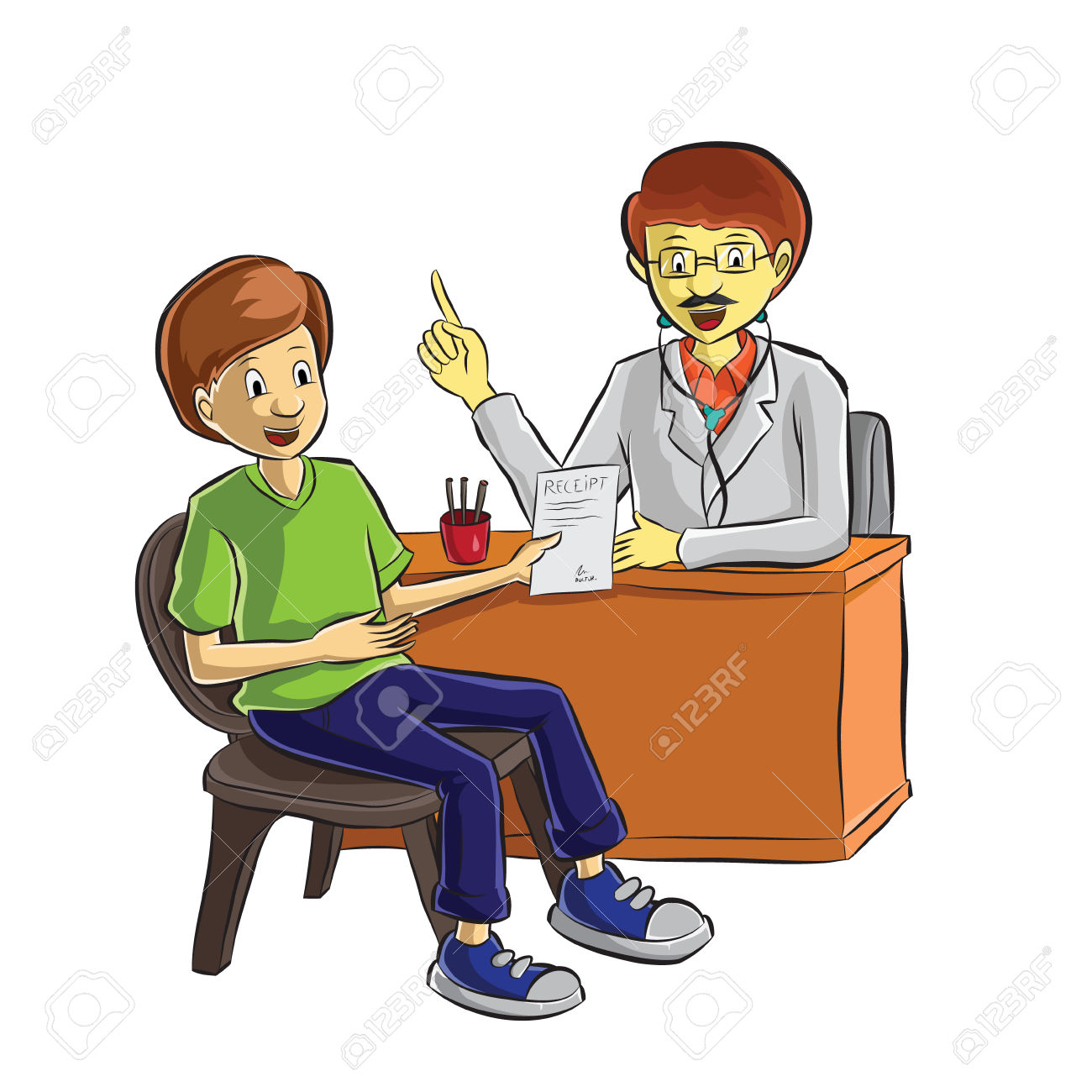 Clip Art Of Patient In The Office