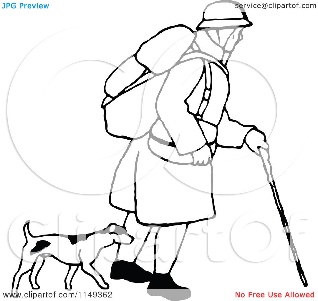Dog Trekking Clipart