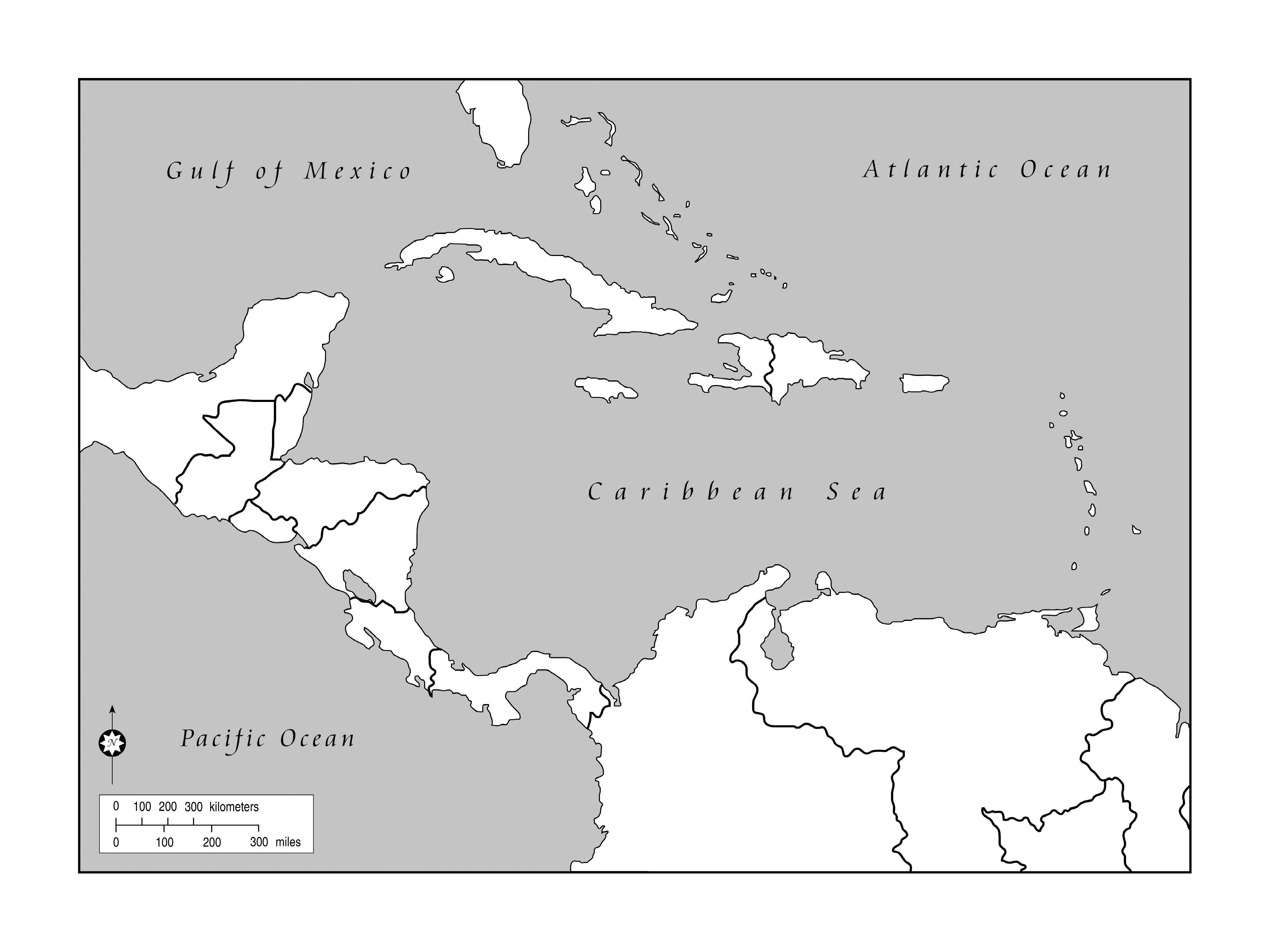 Dominican Republic Black And White Clipart
