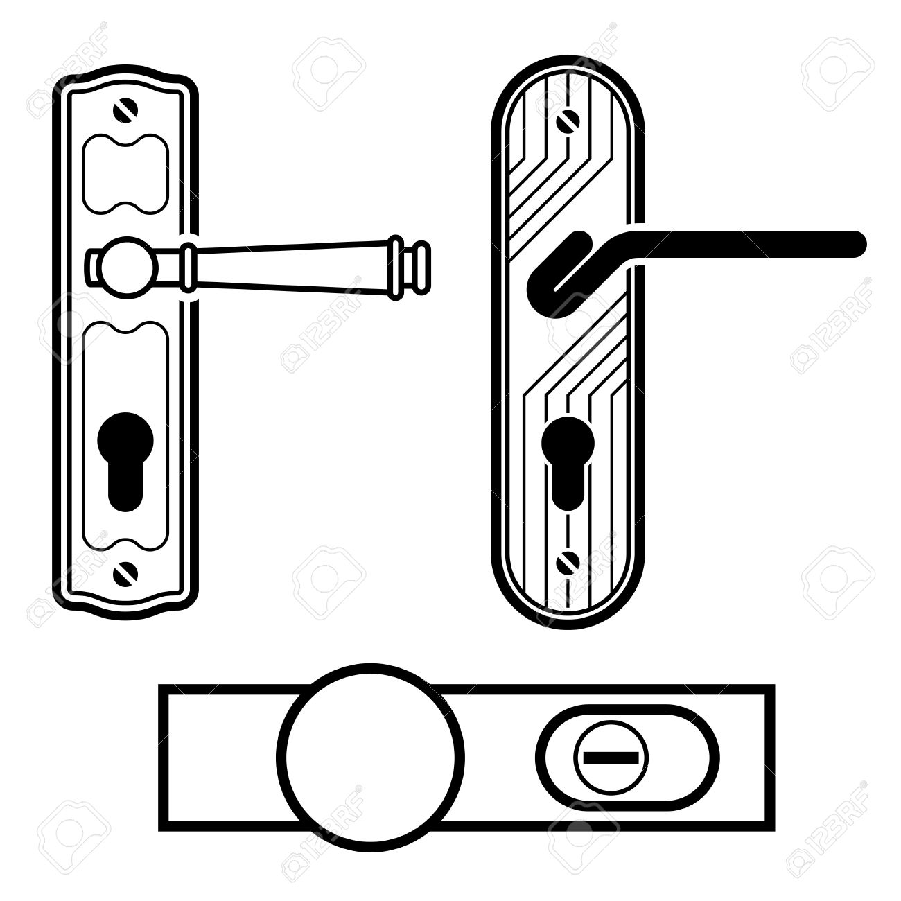 Door Hardware Clipart