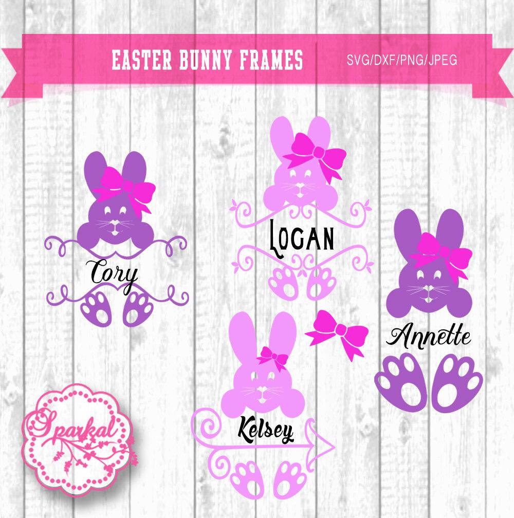 Download easter bunny face with monogram clipart 20 free Cliparts ...