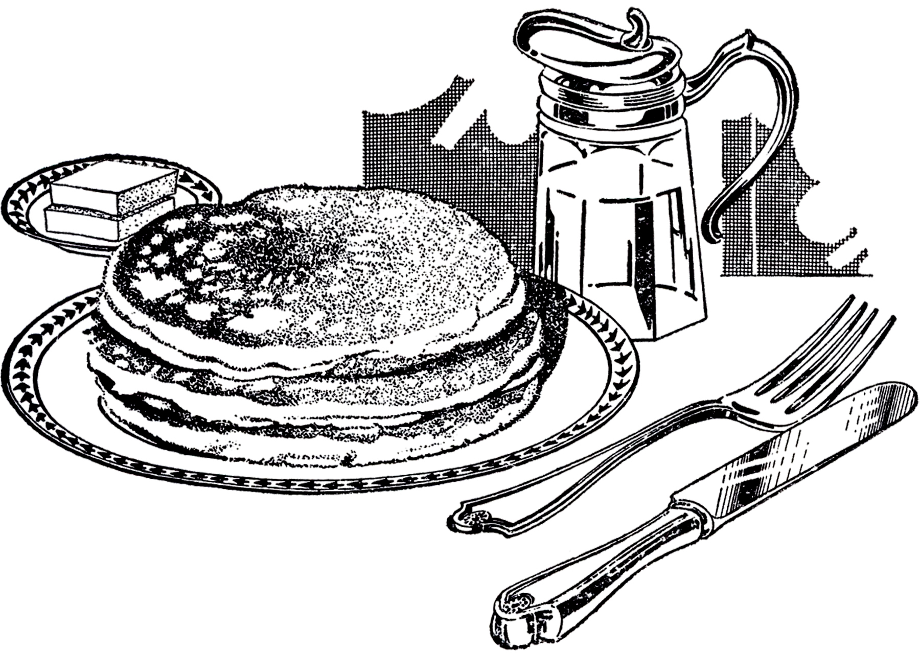 Eating Breakfast Clipart Black And White 20 Free Cliparts