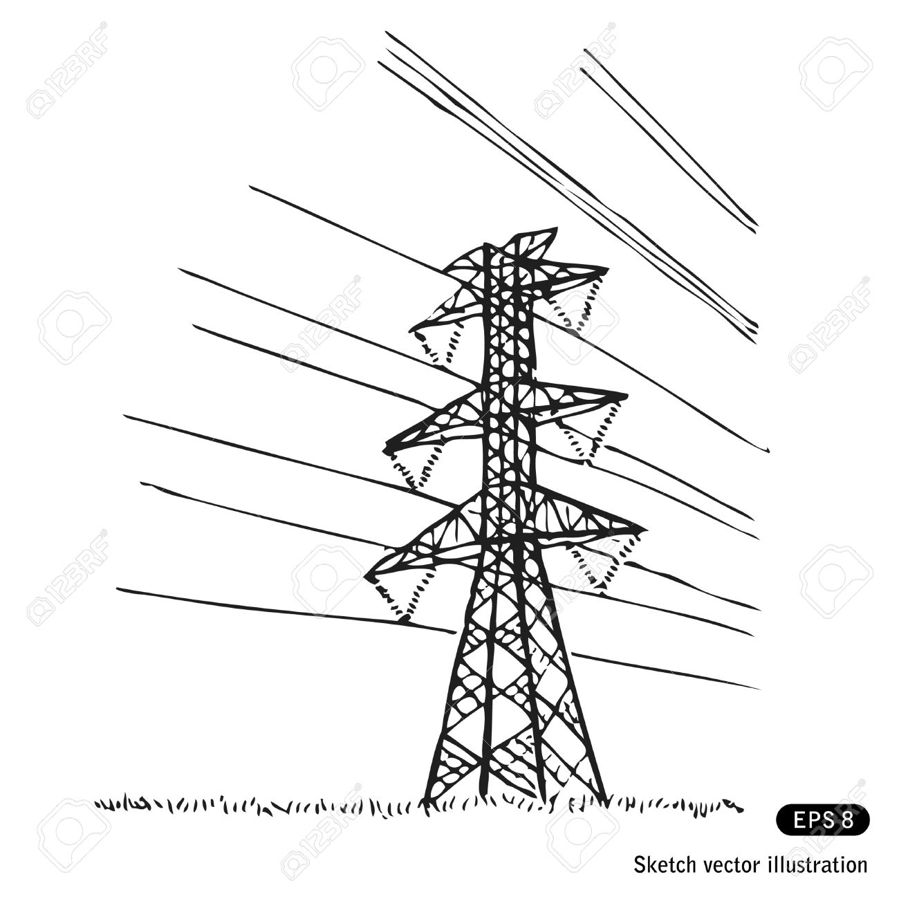 Electricity Pylon Clipart