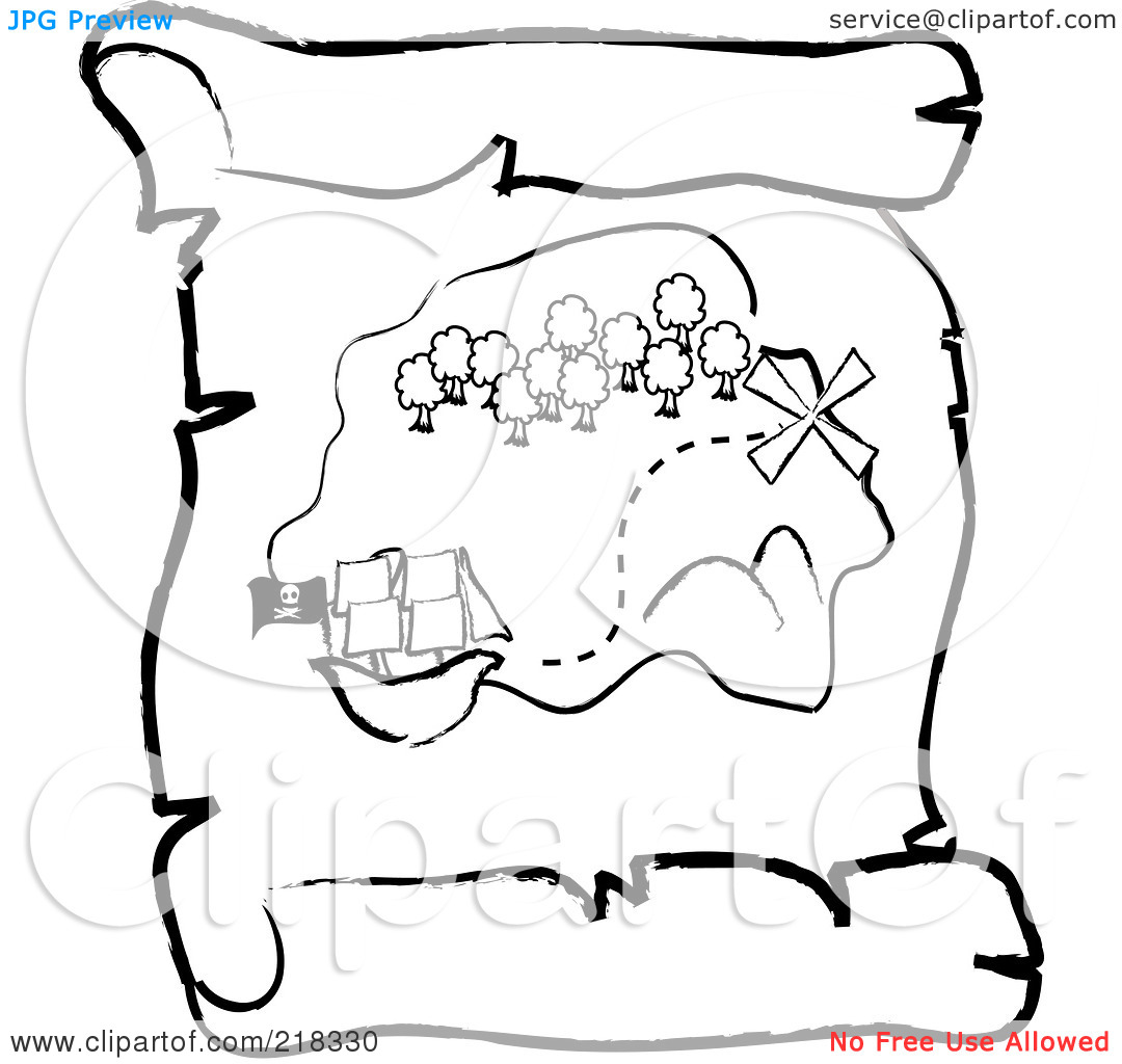 Treasure Map Outline Clipart 20 Free Cliparts