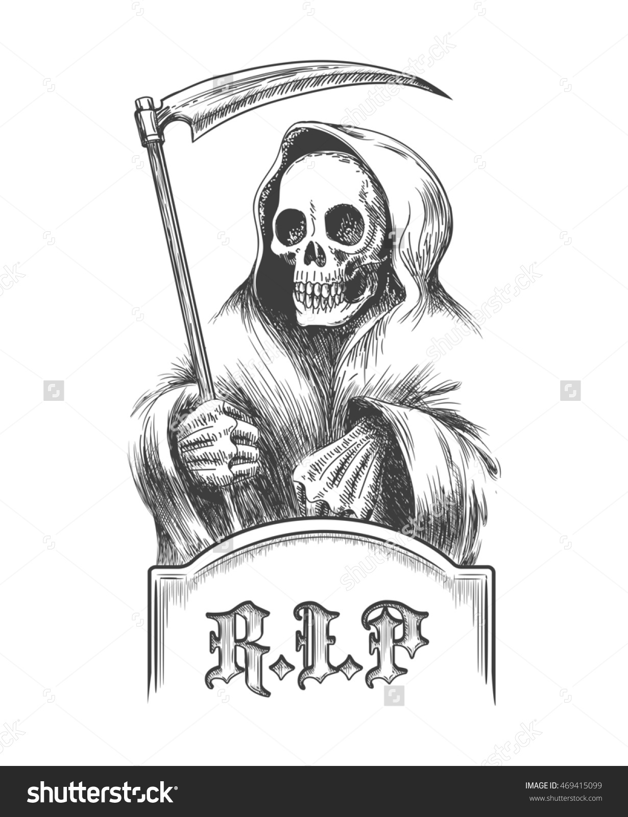 Engraved Tombstone Clipart