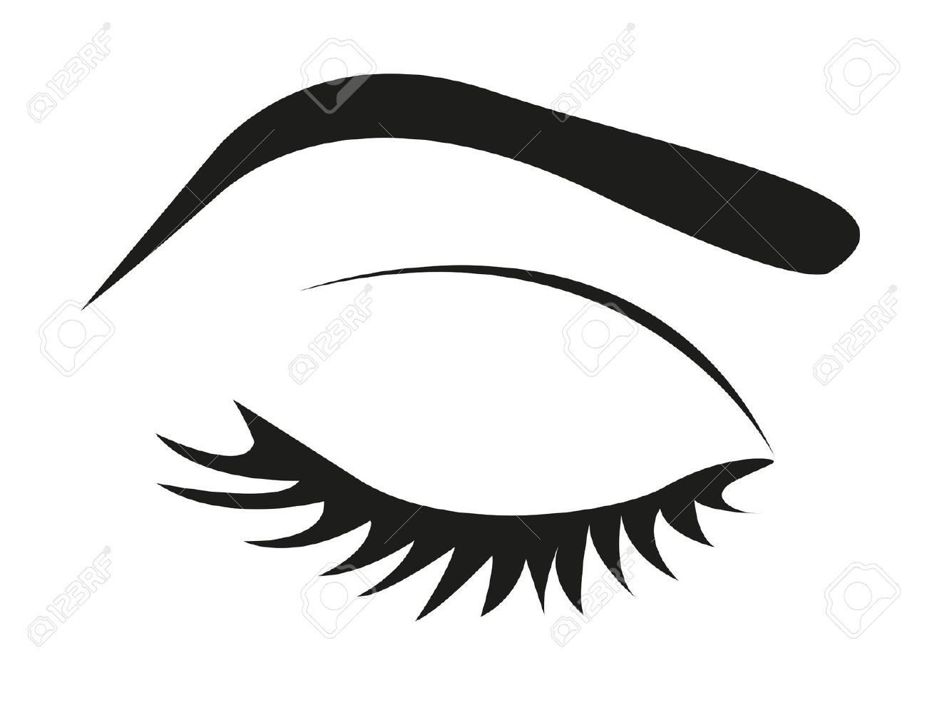 Eyebrow Clipart Black And White 20 Free Cliparts