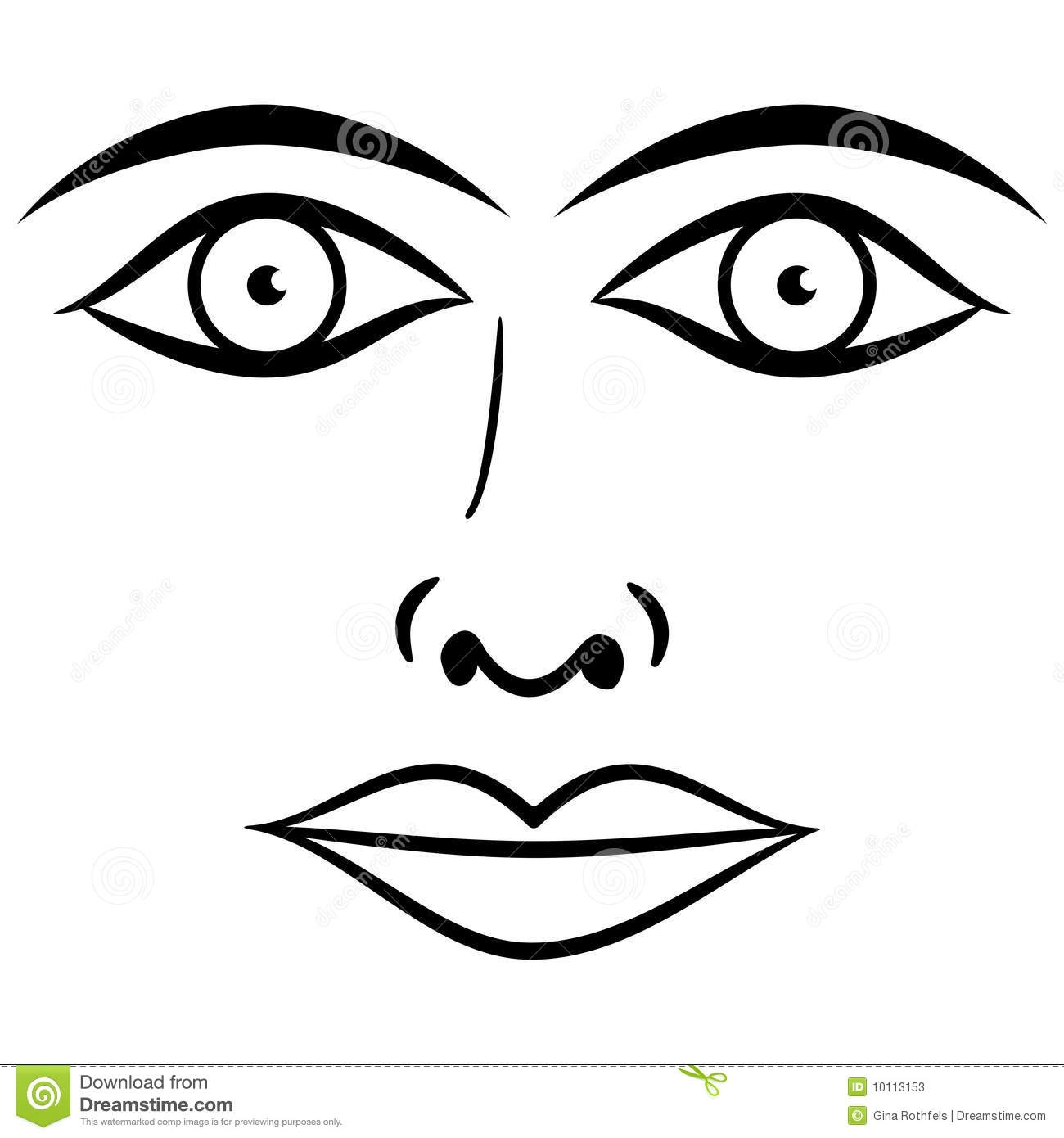 Eyes And Lips Clipart