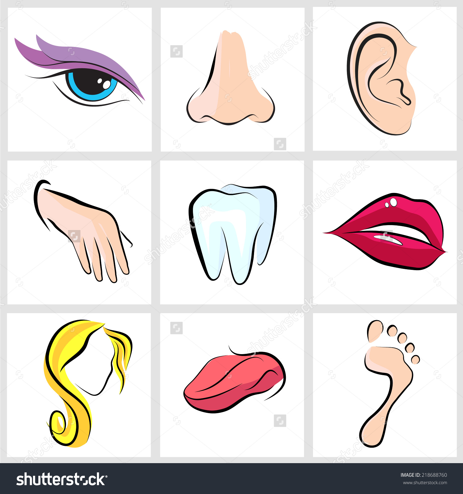 Eyes Tongue Clipart
