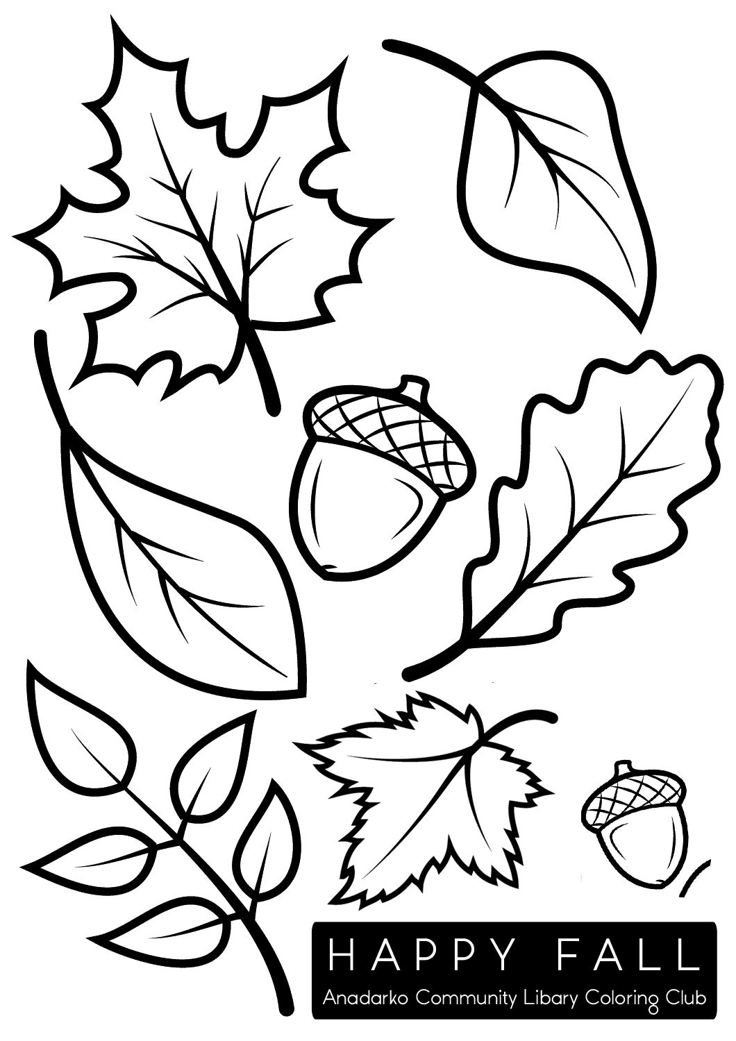 Fall Leaves Clip Art Coloring Pages 10 Free Cliparts