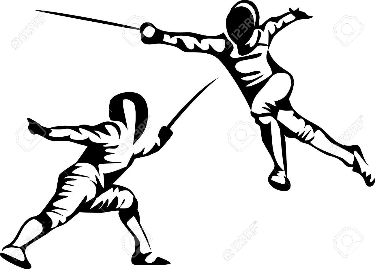 Fencer Clipart