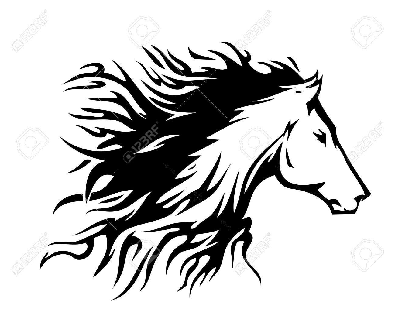Fiery Horses Clipart
