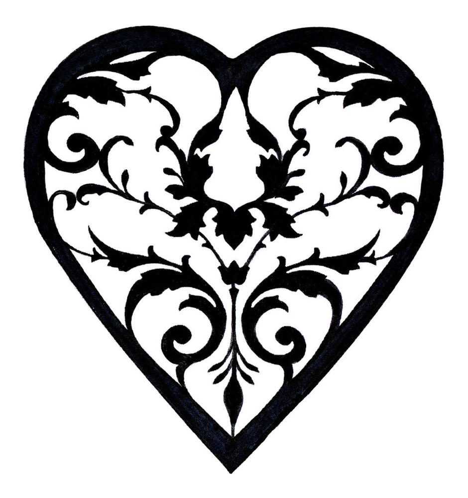Flowers Hearts Small White Google Black And Art Clip And