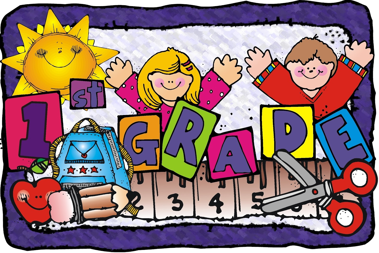 First Grade Student Clipart