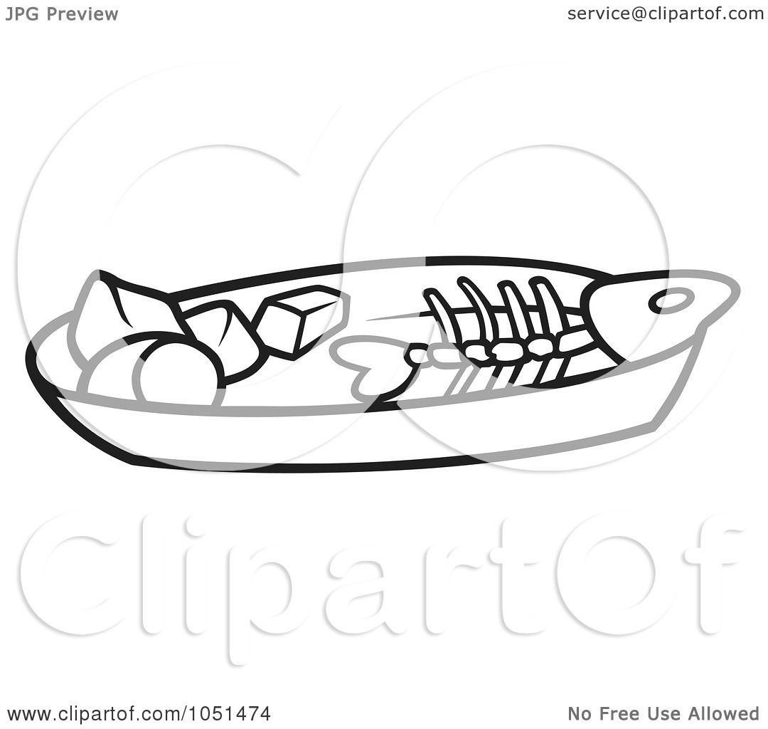 Fish Boil Clipart Outline