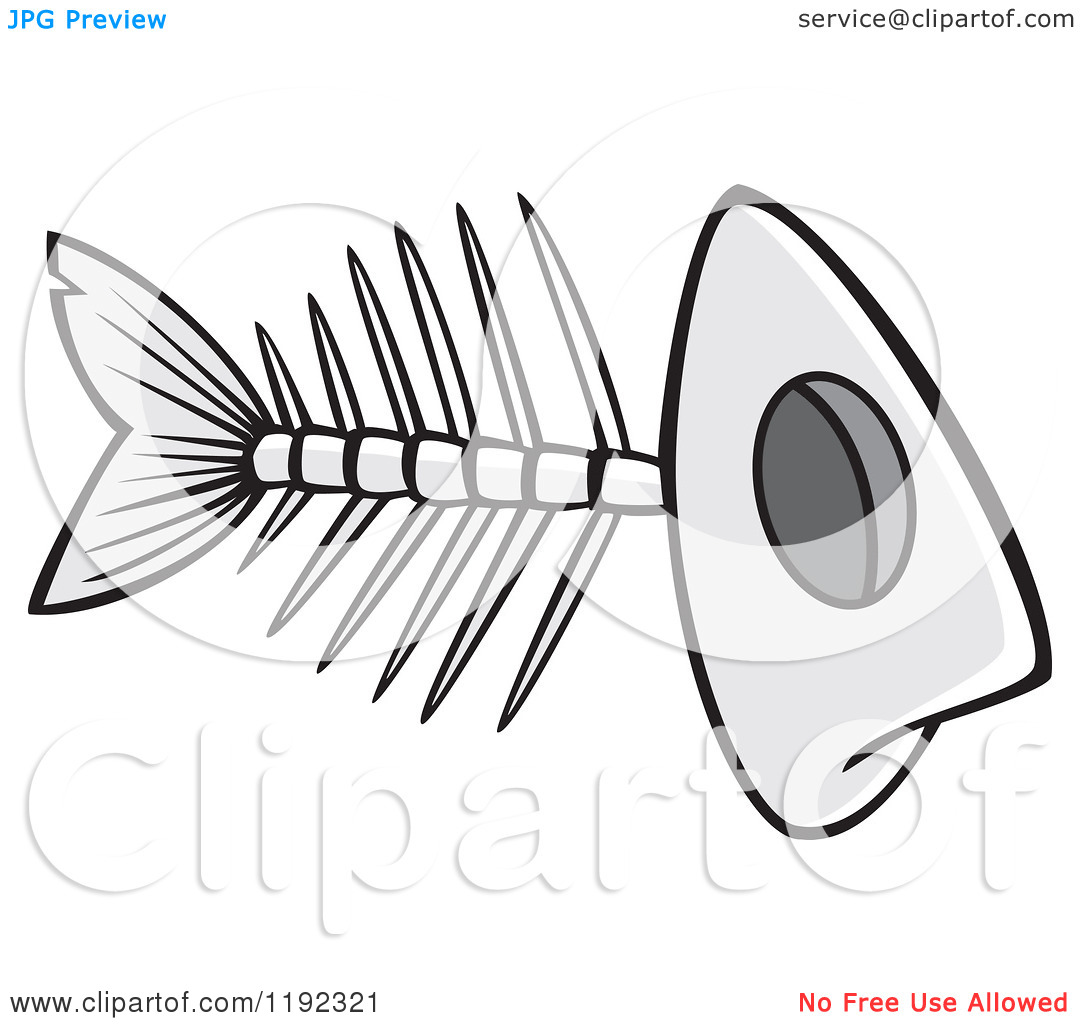 Fish Bone Art Clipart
