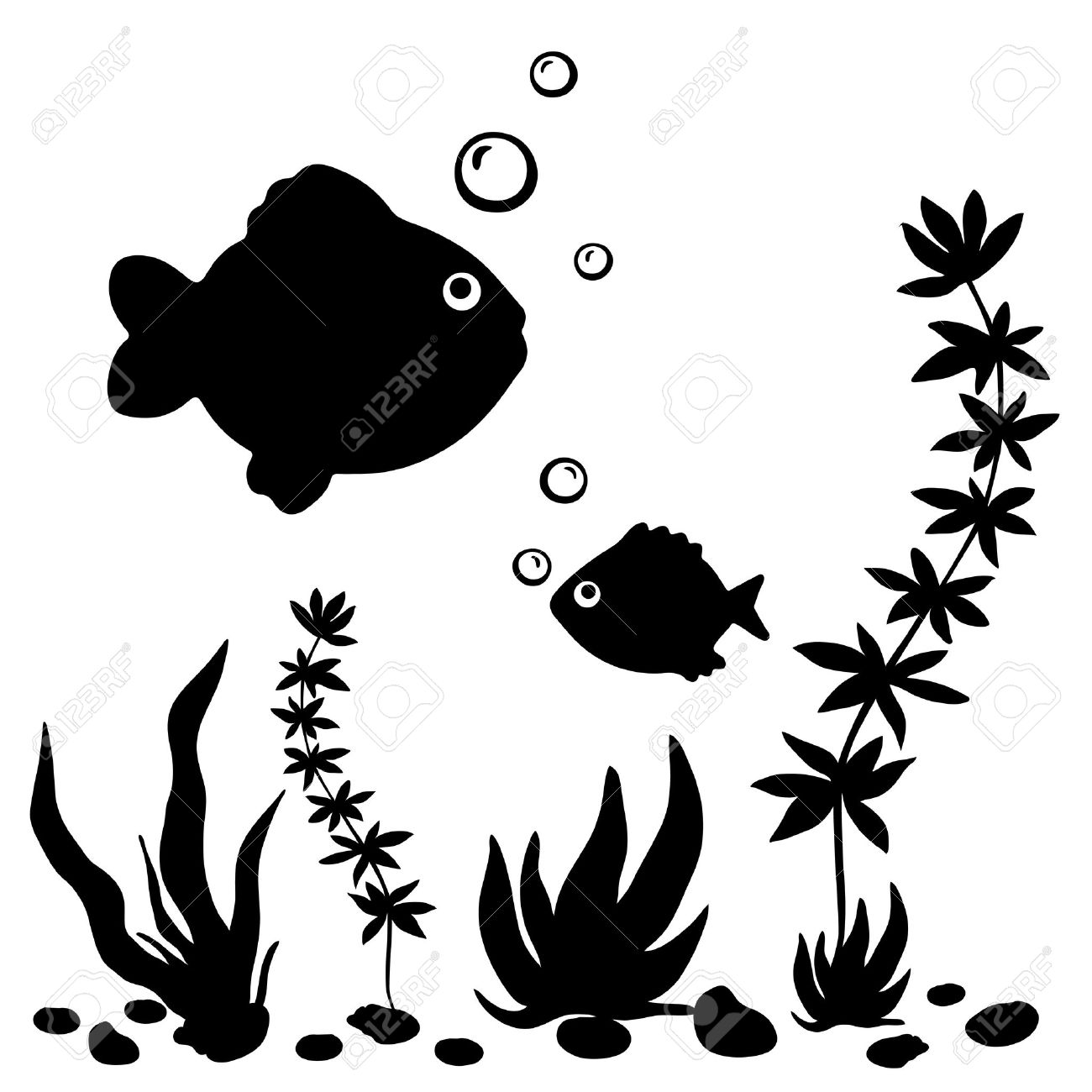 Fish Water Plants Clipart