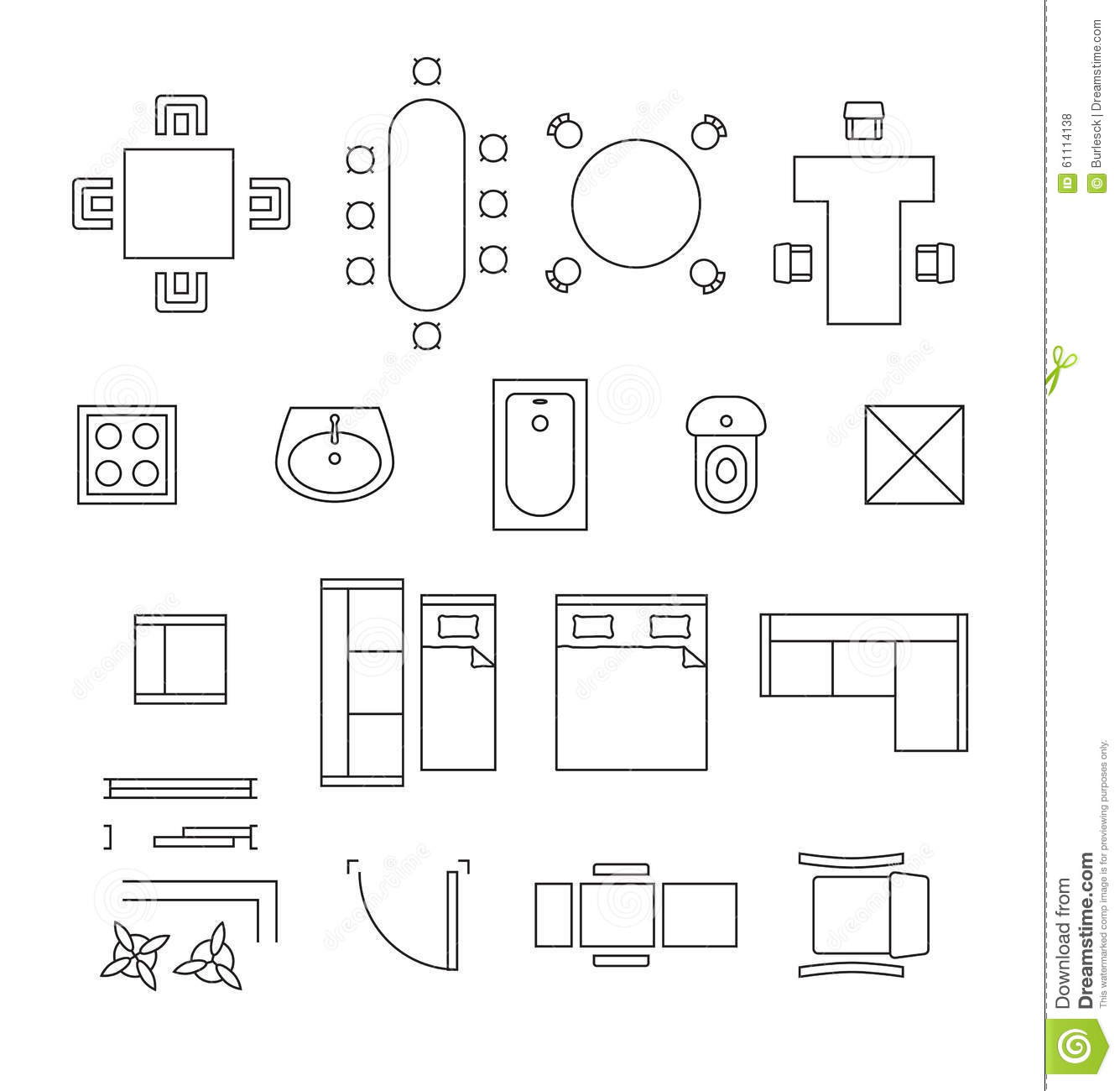 Clip Art Floor Plan Symbols 20 Free Cliparts
