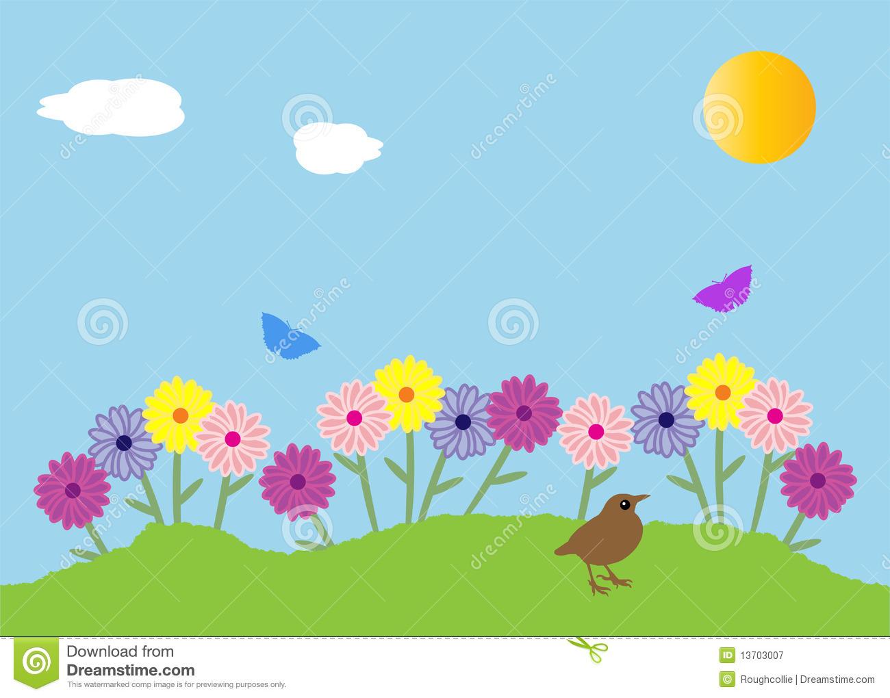 Flower Beds Clipart