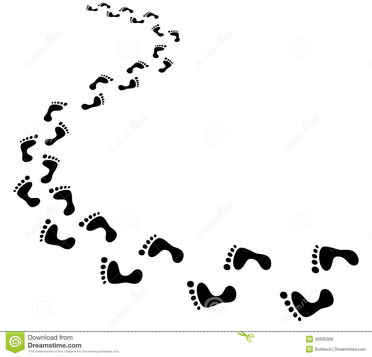 Footprints Clipart Black And White