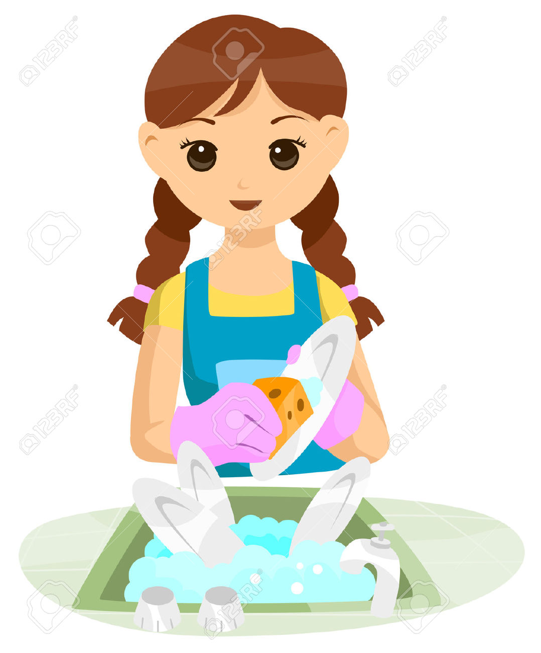 Free Clipart Teenage Girl Dishes 20 Free Cliparts