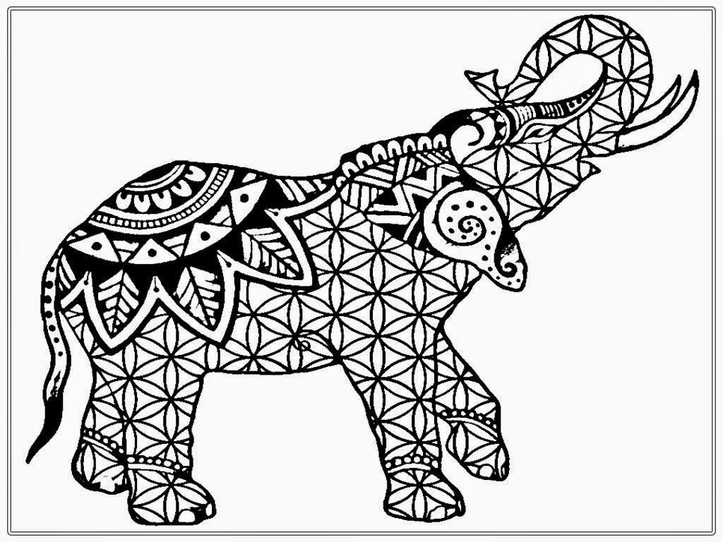 Free Elphant Coloring Sheet Printable Clipart