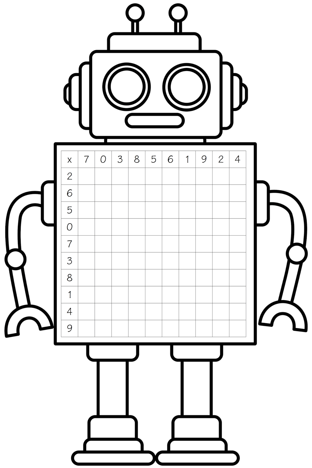 Free Robot Clipart Black And White