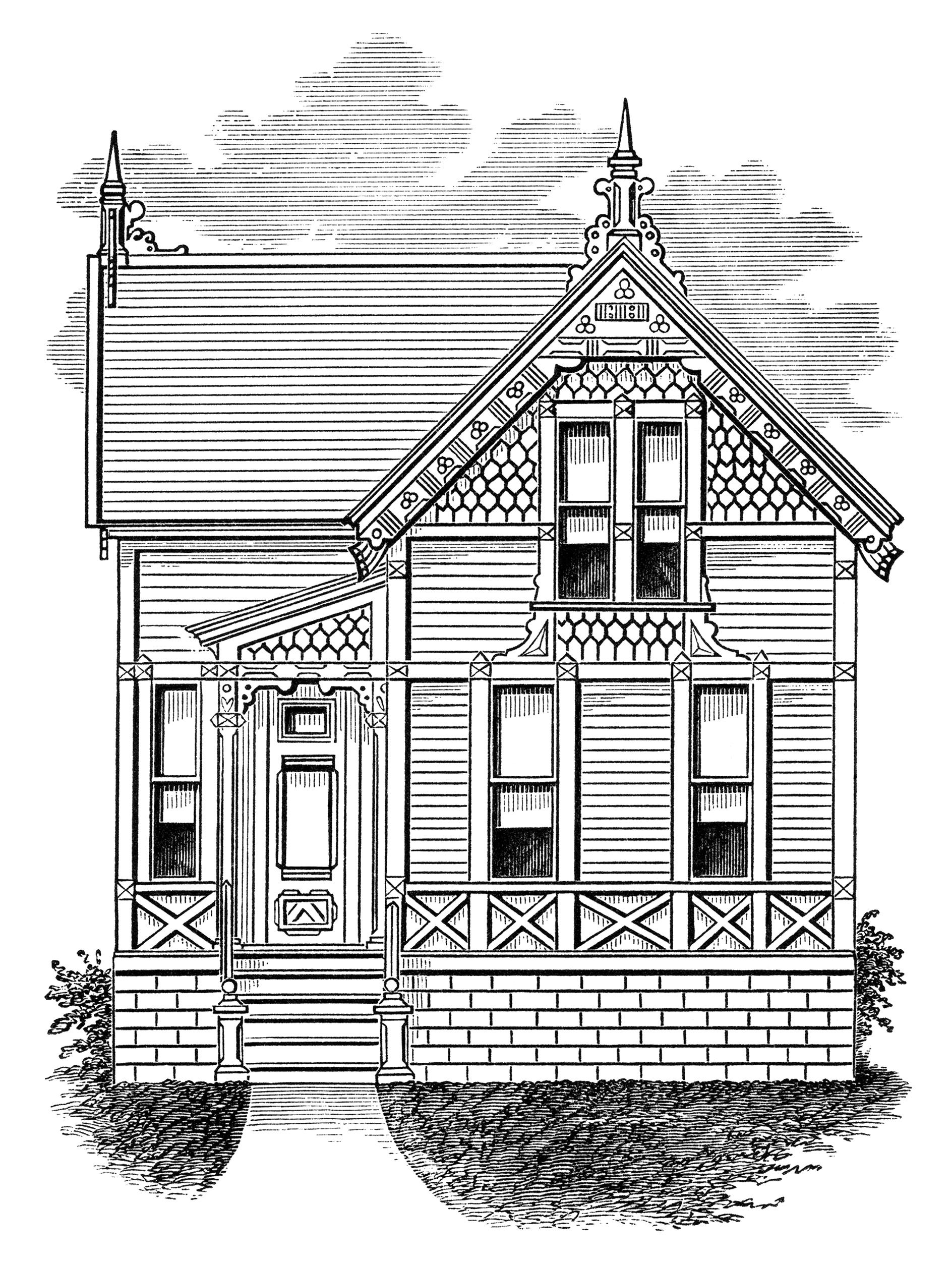 House Haunted Pencil Drawing